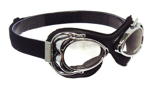 Nannini Streetfighter Motorcycle Goggles - Chrome