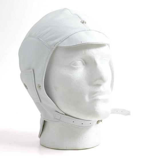 White leather helmet