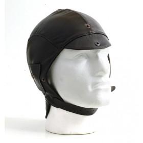 Brown leather helmet