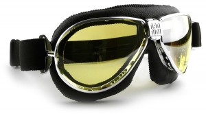 Nannini TT classic style leather motorcycle goggle