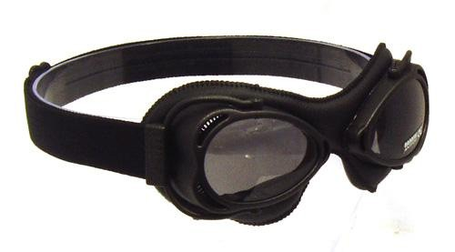 Black Nannini Streetfighter goggles with grey tinted lenses