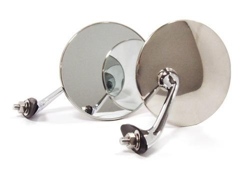 313 S.Steel & Chrome Mirrors for Classic Cars (Pair)