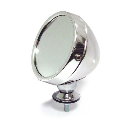 Omnico 319SF Polished Alloy Grand Prix-style Exterior Mirror