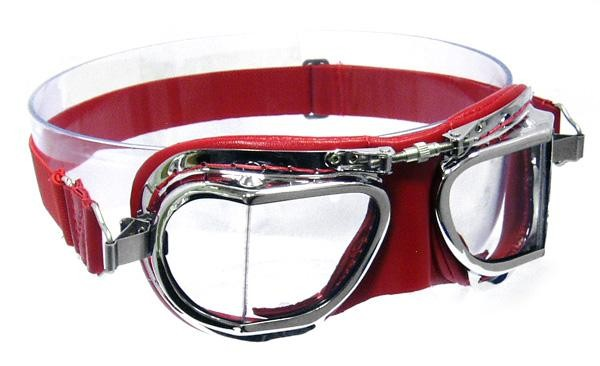 Mark 49 Leather Compact goggles - Red