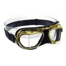 Mark 49 Brass Antique Compact goggles - black leather