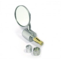 Oberon Streetfighter Bar End Mirrors - Anodised silver