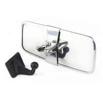 Stainless Steel Interior Classic Car Mirror with Self-adhesive Attachment