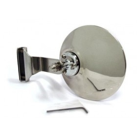 950 Clamp-on 105mm Round Polished Stainless Steel Mirror