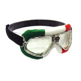 Nannini Cruiser Motorcycle Goggles - Italian flag