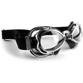 Nannini Hot Rod Motorcycle Goggles - Chrome