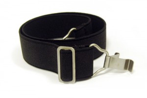 Leather Tabs on Silicone Elastic Headband