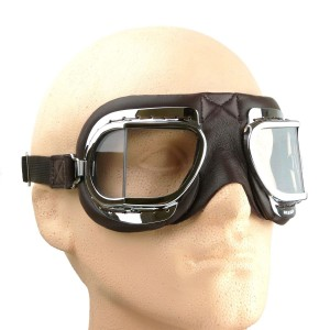 Brown Leather Folding Goggles