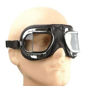 Black Leather Folding Goggles