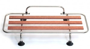 Classic Car Luggage Rack - stainless steel & wood slats