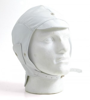 White leather helmet